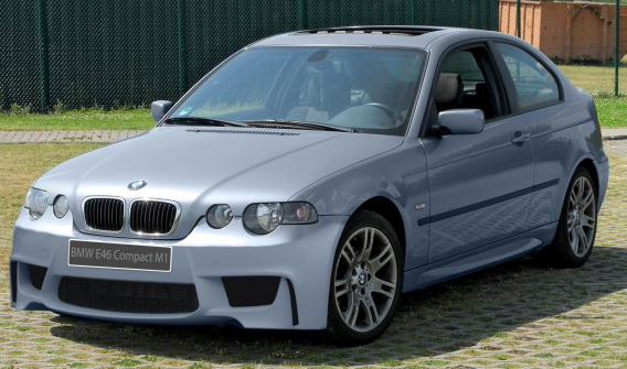 Front Bumper Bmw 3 Series E46 Compact 2001 1m Look