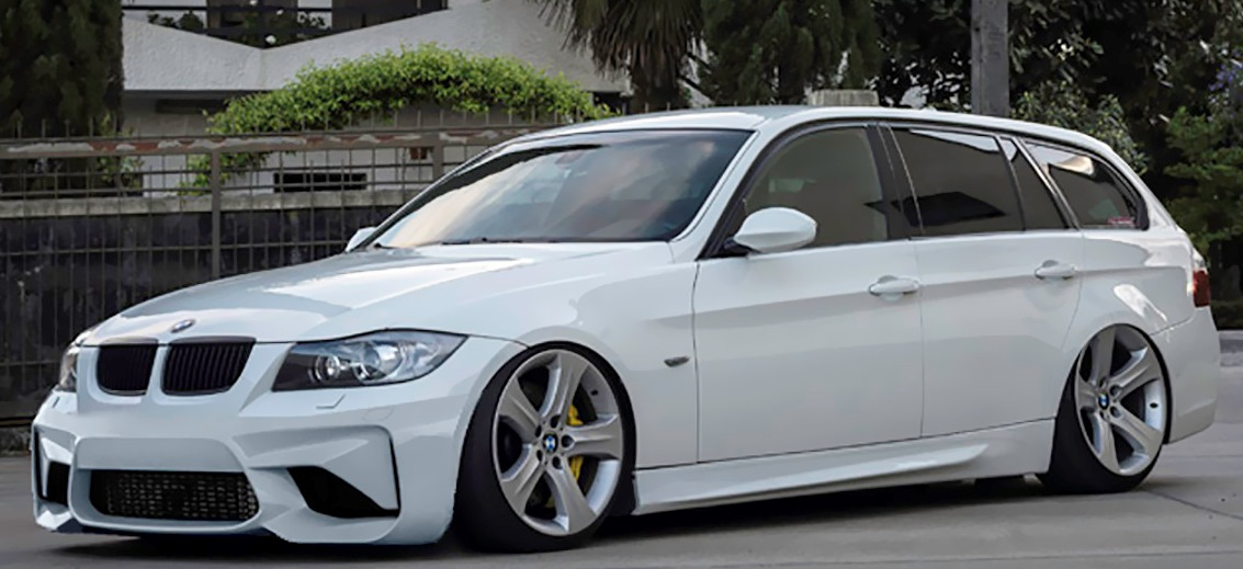 front bumper bmw 3 series e90 e91 pre lci m2 look fr bodystyling. Black Bedroom Furniture Sets. Home Design Ideas
